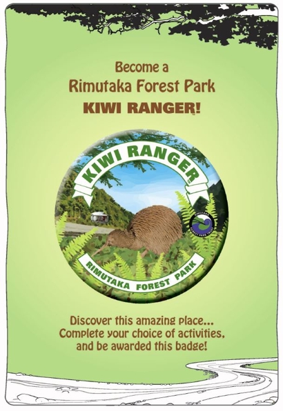 Cover of the Kiwi Ranger booklet for Rimutaka Forest Park