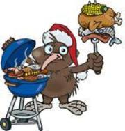 Kiwi Xmas BBQ cartoon