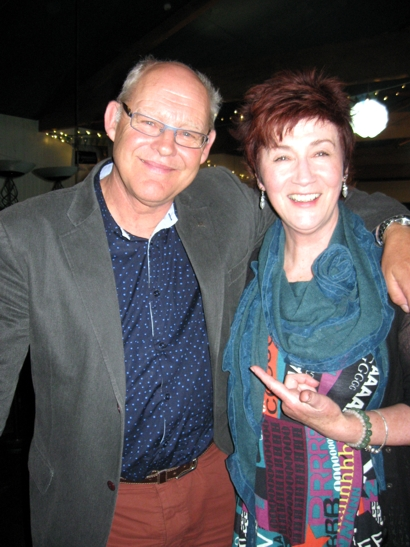 Photo of Ruud Kleinpaste with Melody McLaughlin, kiwi coordinator, RFPT