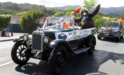Vintage float - and prize-winner - for the RFPT during the Wainuiomata Christmas Parade